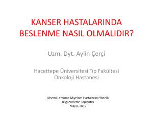 Turkiye De Kanser Kontrolu 2009