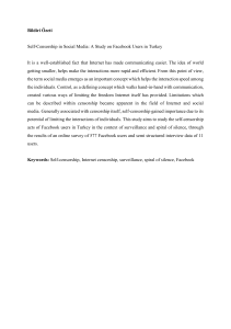 Bildiri Özeti Self-Censorship in Social Media: A Study on Facebook