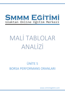 MALİ TABLOLAR ANALİZİ