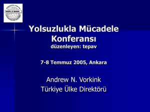 Conference on Anti-Corruption July 7-8 2005 Ankara