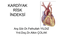 KARDİYAK RİSK İNDEKSİ