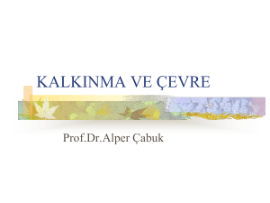2014-2015 ÖY_PART II - KALKINMA VE ÇEVRE