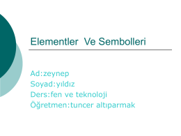 Elementler Ve Sembolleri