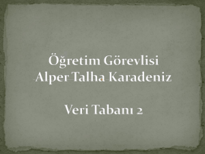 stored Procedure - Alper Talha Karadeniz