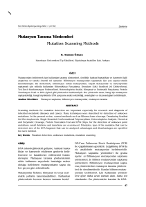 Mutasyon Tarama Yöntemleri Mutation Scanning Methods