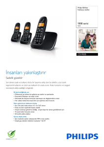 CD1903B/38 Philips Kablosuz telefon