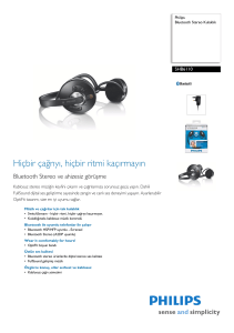 SHB6110/05 Philips Bluetooth Stereo Kulaklık