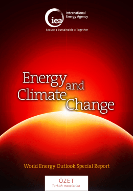 Energy Climate Change - International Energy Agency