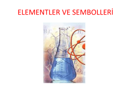 elementler ve semboller