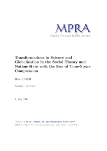 Transformations in Science and Globalization in the Social Theory