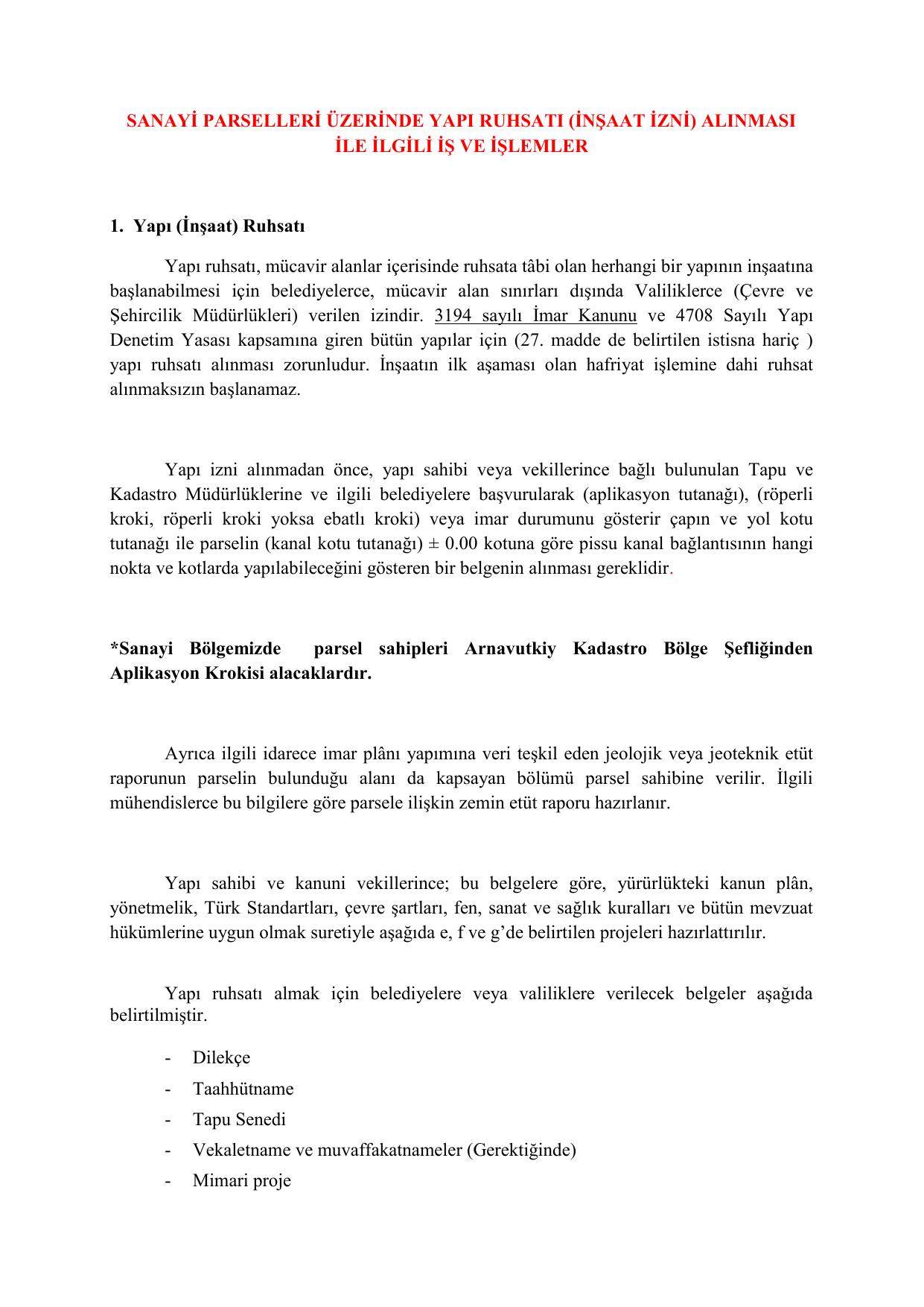 İnşaat izni almak: belge listesi ve istisnalar