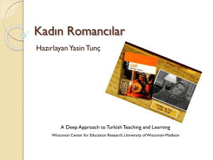Kadın Romancılar - Deep Approach to Turkish Teaching and Learning