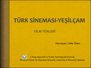 Türk sineması  - Deep Approach to Turkish Teaching and
