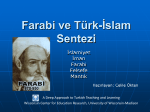 Farabi and Turkish-Islam Synthesis