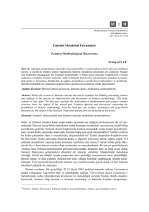 Feminist Metodoloji Tartışmaları Feminist Methodological Discussions
