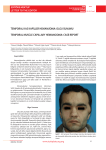 TEMPORaL MUSCLE CaPILLaRy HEMangIOMa: CaSE REPORT