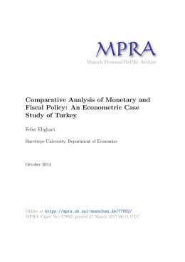 an analysis of the monetary and fiscal policies in canada We investigate the impact of monetary policy on the ex- (australia, canada, new zealand  how the set of events used in the analysis were determined.