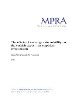 The effects of exchange rate volatility on the turkish export