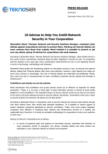 10 Advices to Help You Instill Network Security in Your