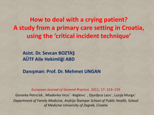 How to deal with a crying patient? A study from a primary care