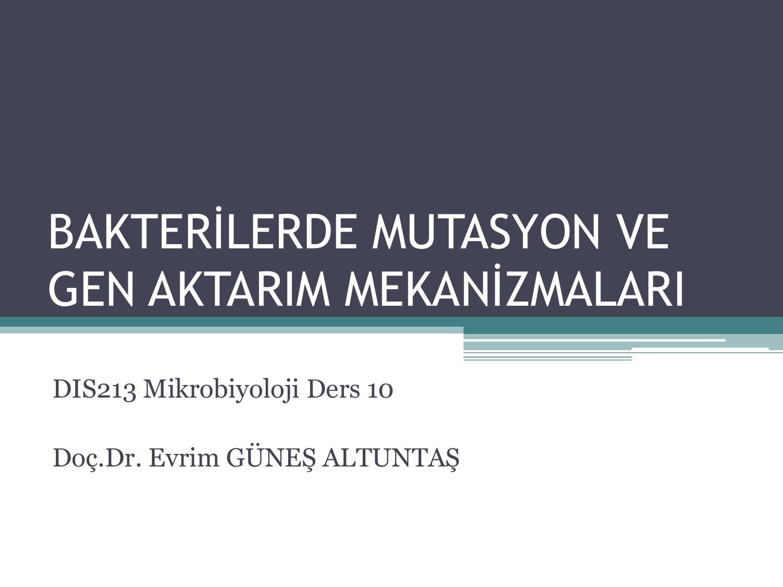 Mutasyon değişkenliği ve mutasyon tipleri