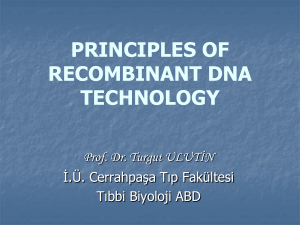 PRINCIPLES OF RECOMBINANT DNA TECHNOLOGY