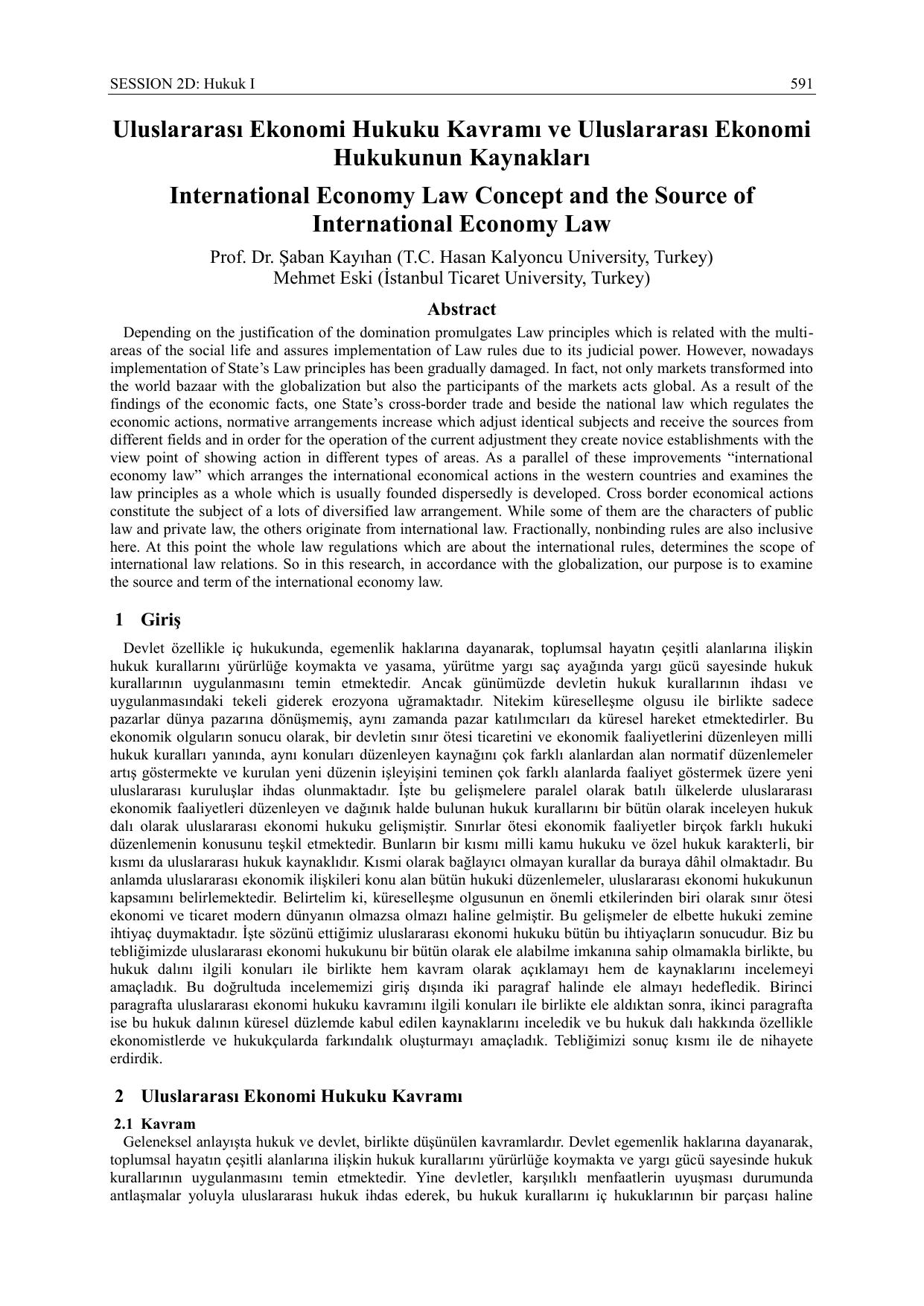 Uluslararası hukuk kavramı