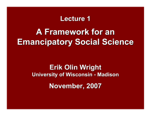 A Framework for an Emancipatory Social Science