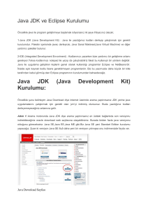 Java JDK (Java Development Kit) Kurulumu