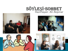 sohbet - Hisar School Blogs
