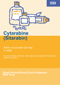 Cytarabine (Sitarabin) - Great Ormond Street Hospital