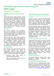 HPV testing - Information for women (Turkish)
