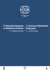3rd International Symposium on Ombudsman Institutions 3