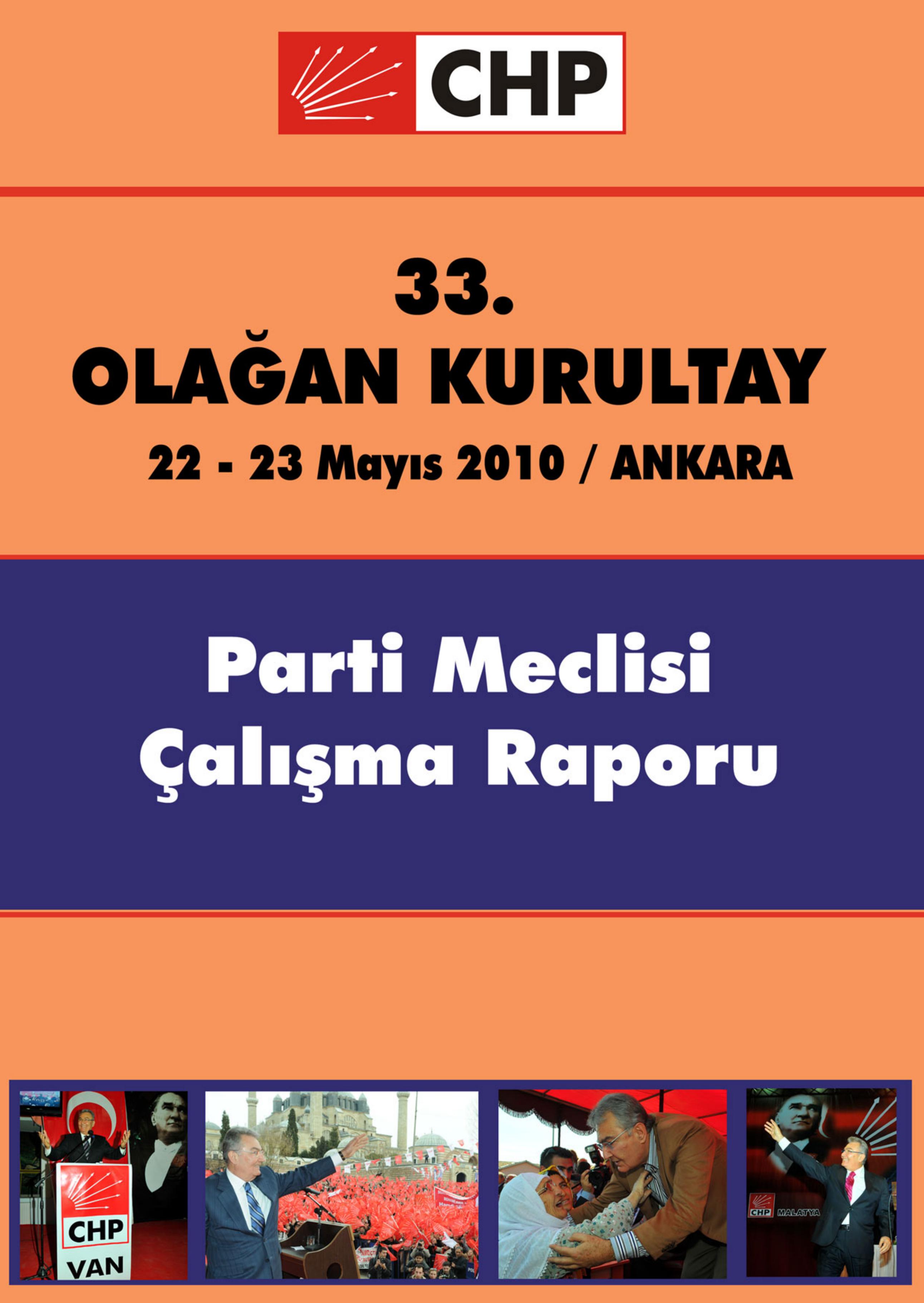 33 Olagan Kurultay Parti Meclisi Calisma Raporu