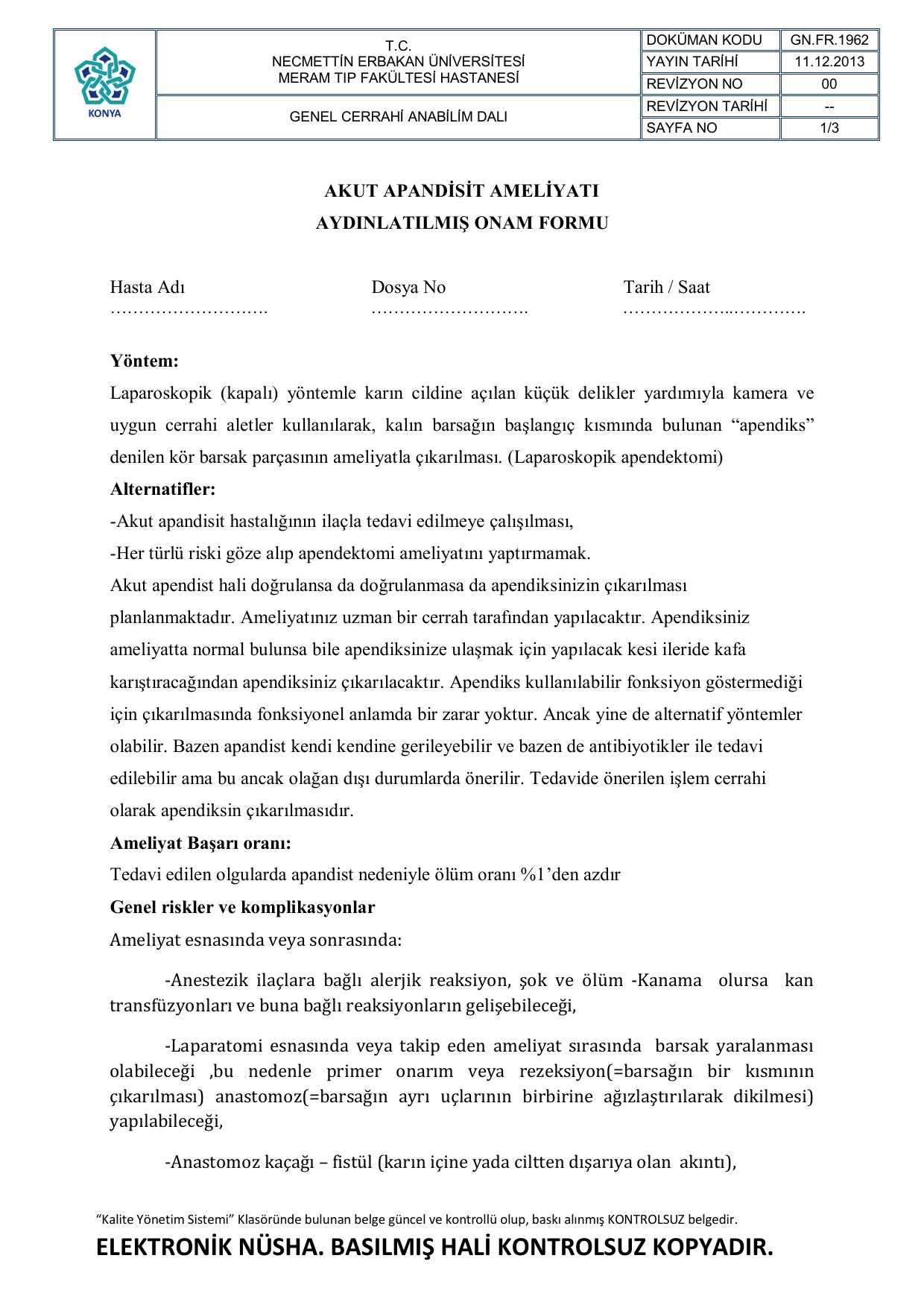 Akut apandisit: formları ve tanı 68