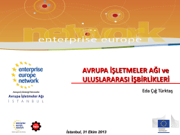 Enterprise Europe Network and International Cooperations