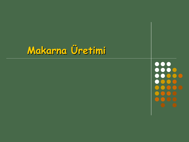 Makarna Uretimi