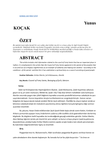 Yunus KOÇAK ÖZET ABSTRACT