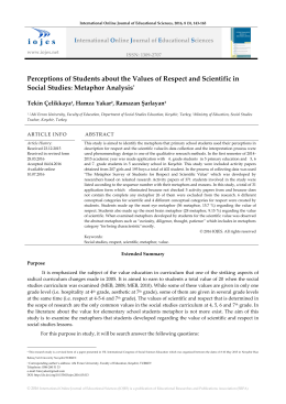Perceptions of Students about the Values of Respect and Scientific
