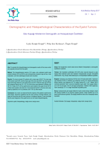 Demographic and Histopathological Characteristics of