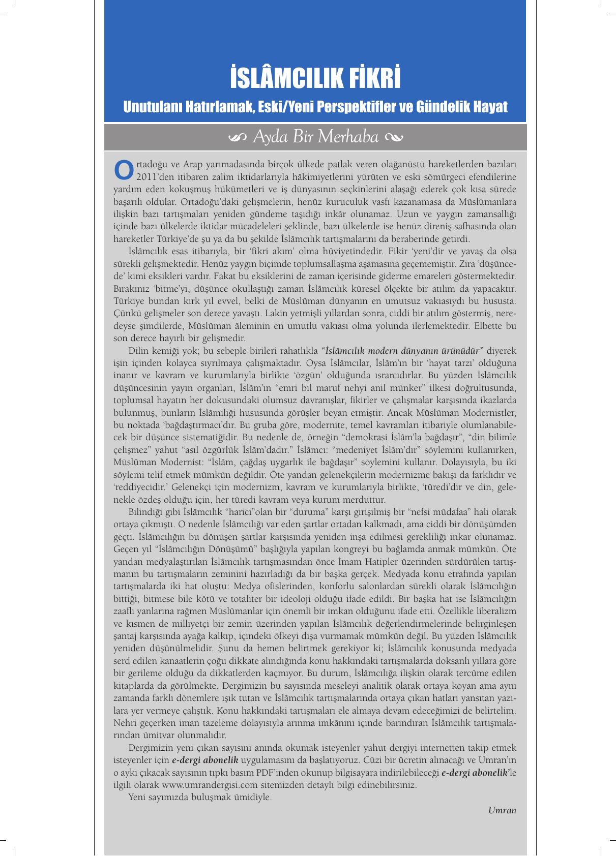 8c9cdd8fa0786 Pdf formatında - Umran Dergisi