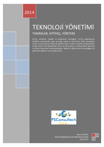 TEKNOLOJİ YÖNETİMİ ESASLARI (PDF Available)
