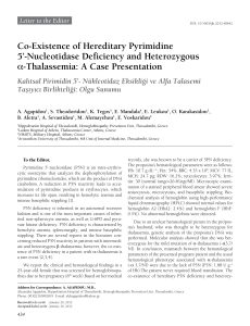 Co-Existence of Hereditary Pyrimidine 5`