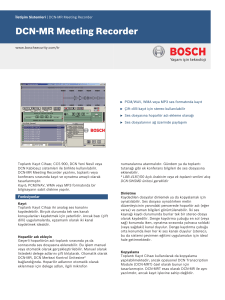 DCN‑MR Meeting Recorder - Bosch Security Systems