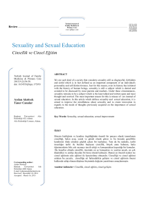 Sexuality and Sexual Education