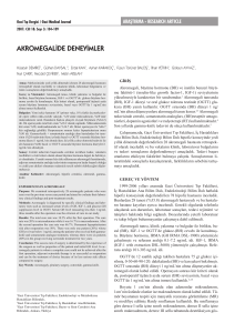 akromegalide deneyimler - Gazi Medical Journal