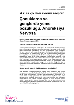 Anorexia nervosa in children and young people (Turkish)