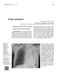 X-Ray-evaluation - Çocuk Enfeksiyon Dergisi