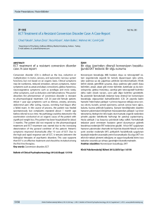 ECT Treatment of a Resistant Conversion Disorder Case: A Case