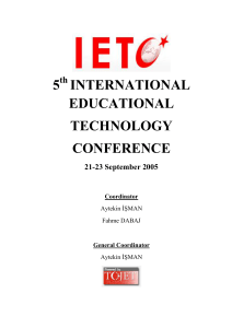5 ınternatıonal educatıonal technology conference